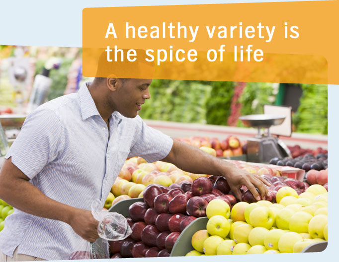 A healthy variety is the spice of life